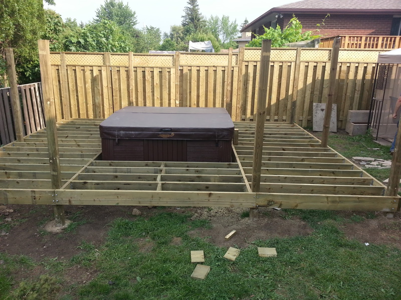 Do It Yourself Builds: How to Build a Deck (with a Hot Tub in the ...