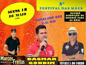 3º Festival das Mães neste dia 18 de Maio no Vagalume Bar em Campo Grande