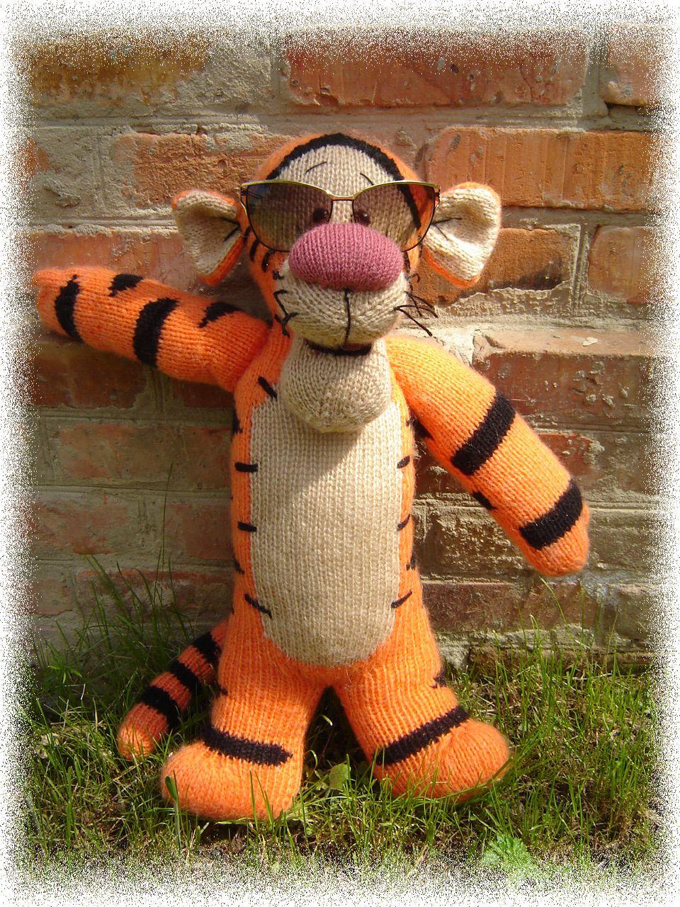 Вязание игрушек крючком тигр