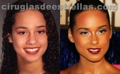 alicia keys antes y despues