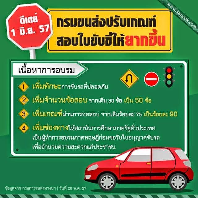 เฉลยข้อสอบ แนวข้อสอบ ทำขออนุญาตใบขับขี่รถยนต์ และรถจักรยานยนต์