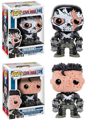 Captain America Civil War Retailer Exclusive Pop! Vinyl Figures by Funko - Target Exclusive Battle Damage Crossbones & Barnes & Noble Unmasked Crossbones