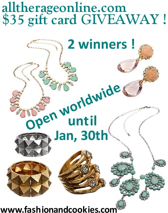 Alltherageonline giveaway on Fashion and Cookies