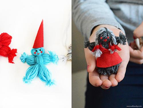 yarn dolls how to make