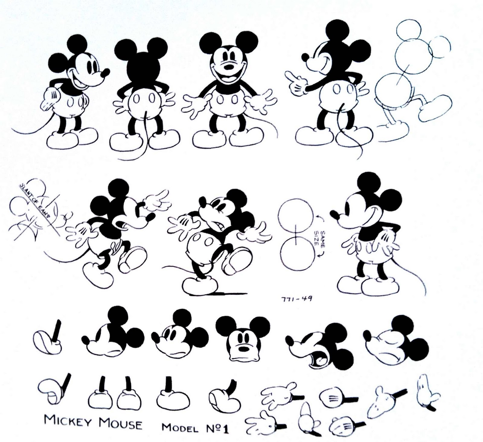 Character Design Evolution : Disney hipster mickey is not a clown