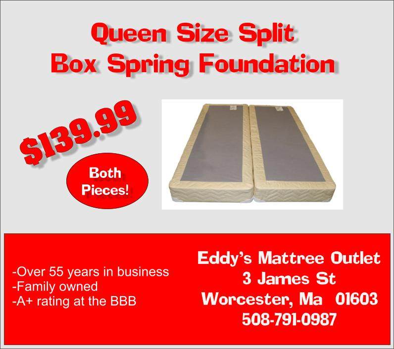mattress man online worcester split box spring foundation for queen or full mattress only 139. Black Bedroom Furniture Sets. Home Design Ideas