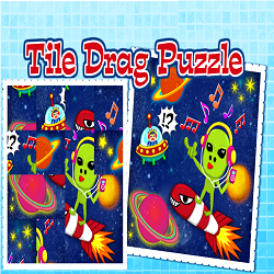 Tile Drag Puzzle (Logical Thinking Picture Game)