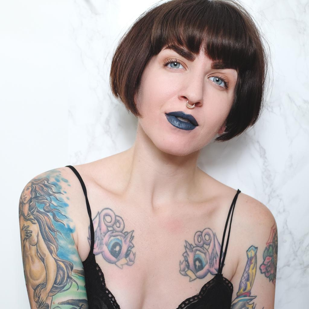 Swatch NYX Liquid Suede Cream Lipstick in Stone Fox - Mini Penny Blog