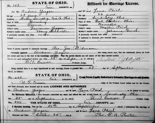 Graveyard Rabbit of Sandusky Bay: Marriage Records in Family Search ...