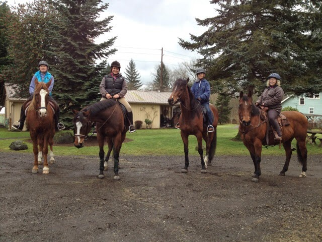 Sunday riding with the ladies and our ponies!