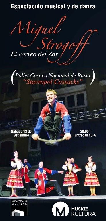 El Ballet Nacional Cosaco de Rusia actuará en Muskiz