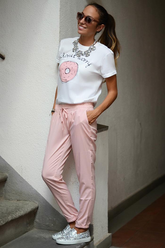 look bianco rosa