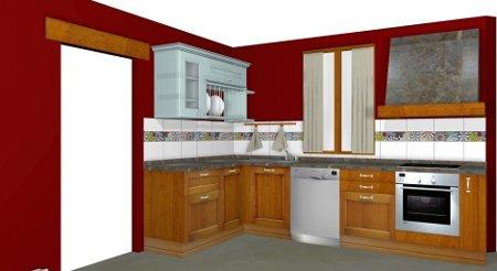 Decoraci n de interiores pinta tu casa con el color granate for Cocinas color granate