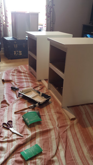 Up-cycled Malm Ikea bedside table