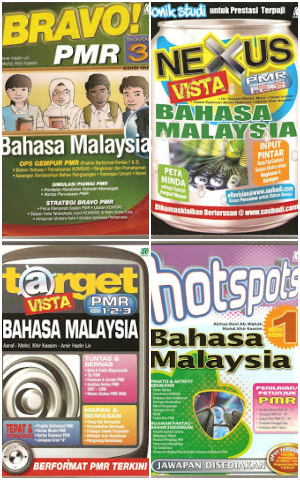 Buku Kerja Bravo PMR T3/Buku Nexus Vista PMR 2009/Buku Target Vista PMR 2009/Buku Hotspots T1 2009