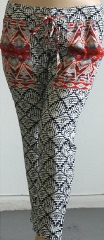THML drawstring printed pants