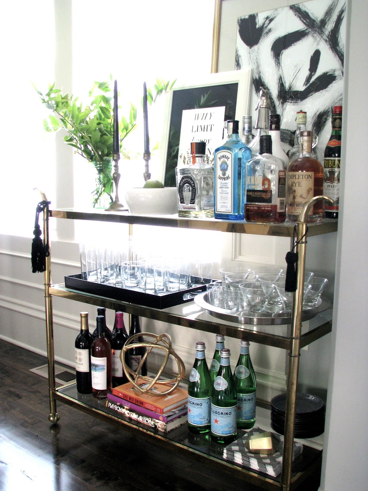Life love larson fall home tour 2015 for Mini bar decorating ideas