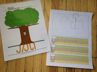 Preschool handwriting tree template for beginning writers