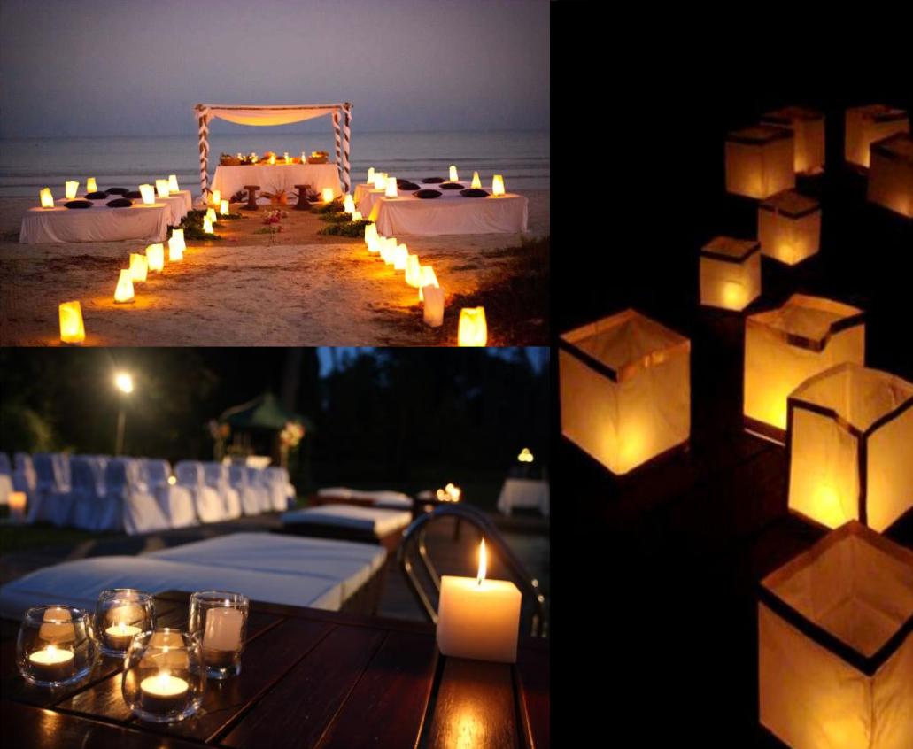 En la ceremonia varia bastante si decides hacerla a la luz del día o con el sunset en la noche. Cuando aún esta muy iluminado recomendamos armar muchos