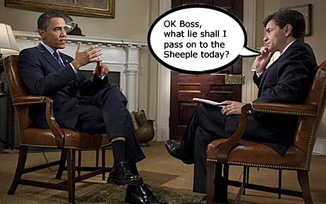 Stephanopoulos to Obama, what lies to tell the sheeple