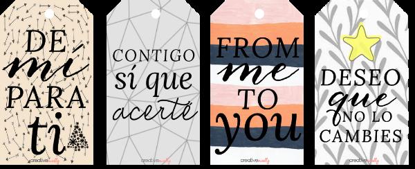 Creative mindly etiquetas navide as gratis para tus regalos - Etiquetas para regalos para imprimir ...