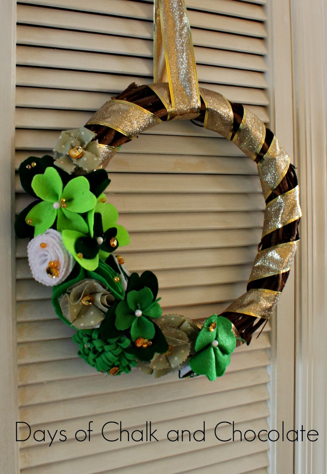 Days of Chalk and Chocolate St. Patrick's Day Wreath