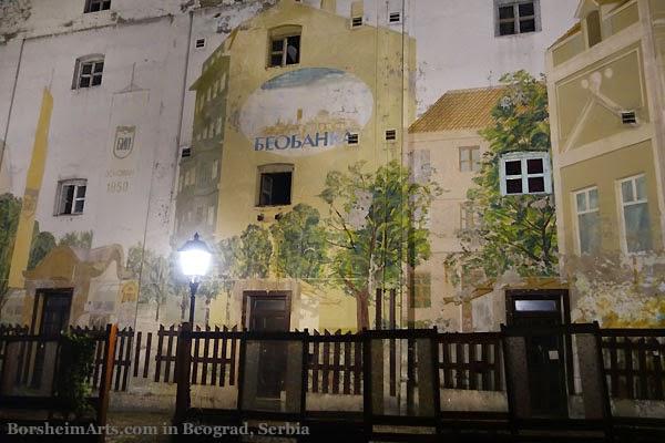Murals Skadarlija Belgrade Serbia
