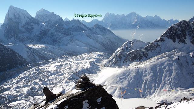 Gokyo valley, glacier