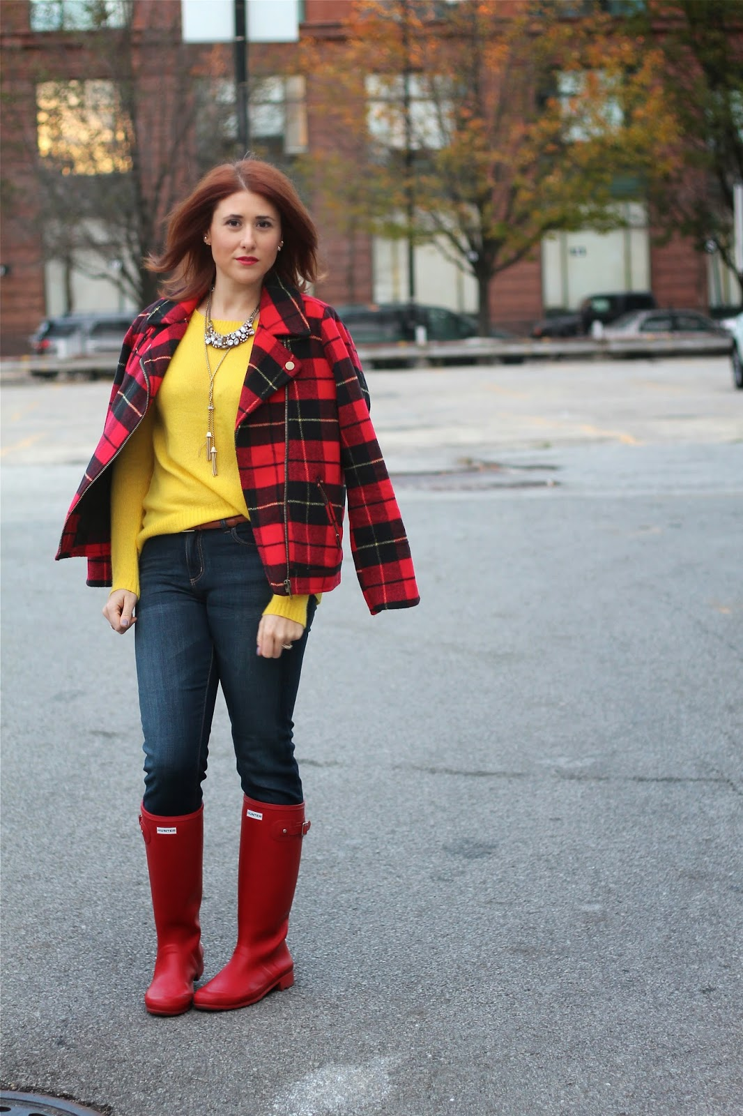 red, hunter, boots