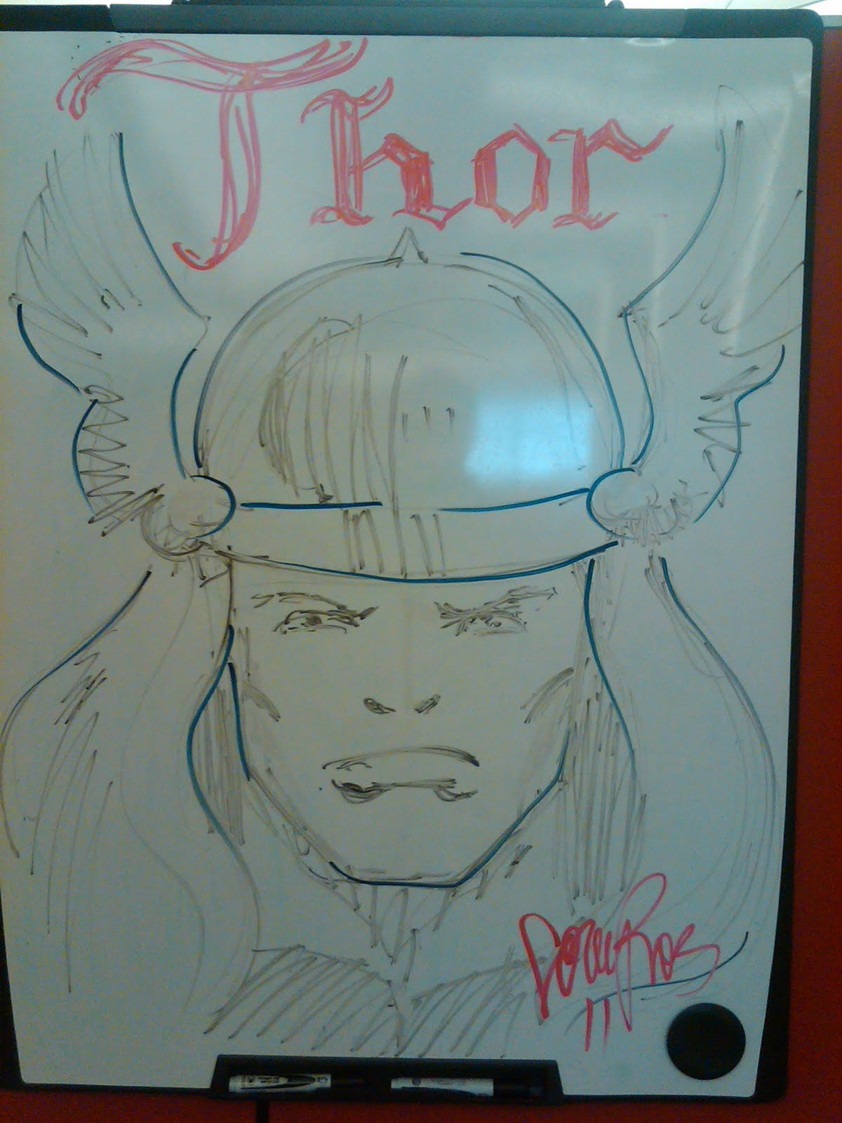 Dry Erase Board Drawings Thor on Dry Erase Board