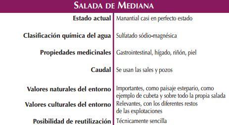 Fuente La Sulfúrica Salada de Mediana de Aragón