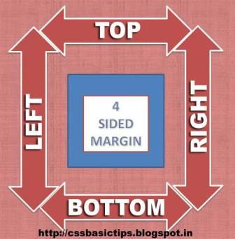 What are margins in CSS and how to set a margin with css coding?