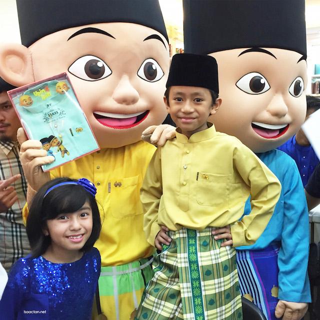 Mia Sara, Rykal Iskandar with Upin & Ipin
