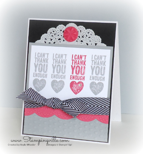 I Can't Thank You Enough! By Stampingville #StampinUp!