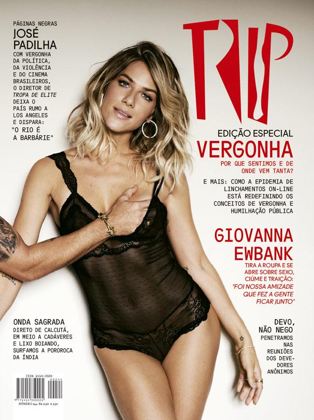 Giovana Ewbank aparece de lingerie na capa da TRIP - Daniel Aratangy. Foto: Daniel Aratangy