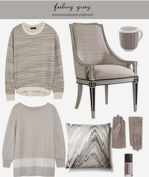 gray fashion and home decor