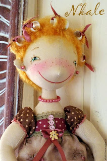 Один из вариантов кукольной прически