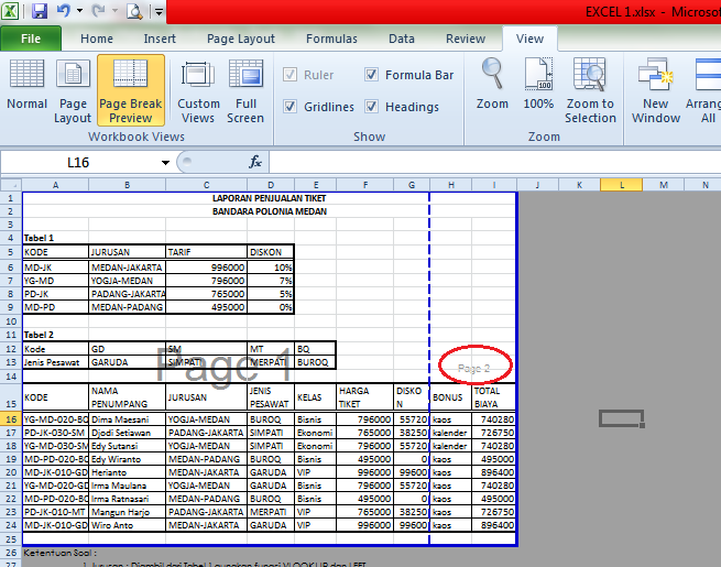 how to set your print area in excel