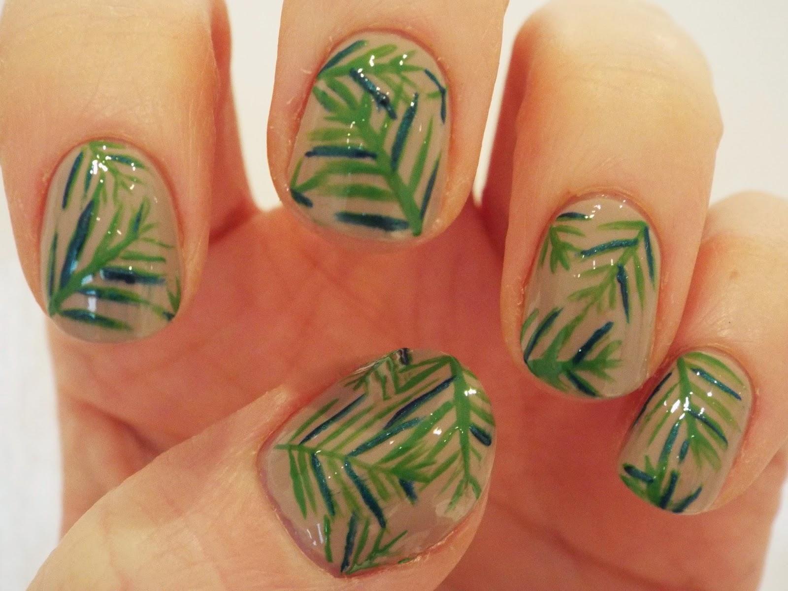Barely Ginger Palm Leaf Nails