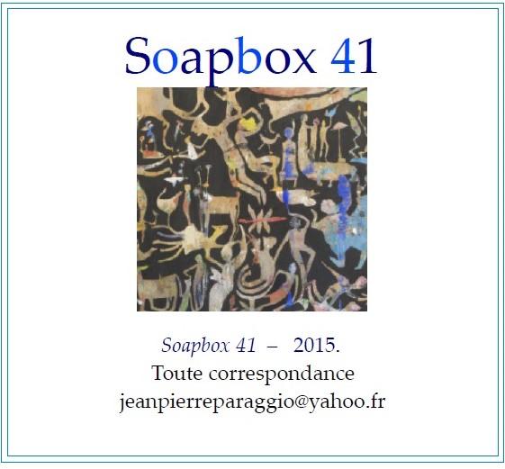SOAPBOX 41, AUTOMNE 2015, ART & POÉSIE