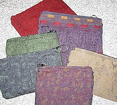 Tapestry zippered pouches with options