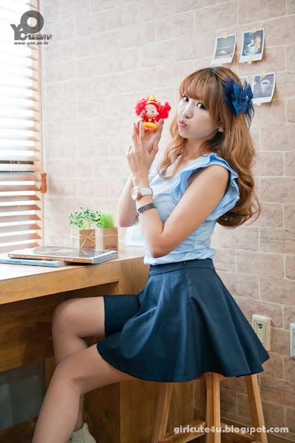 6 Lee Eun Hye in Blue-very cute asian girl-girlcute4u.blogspot.com