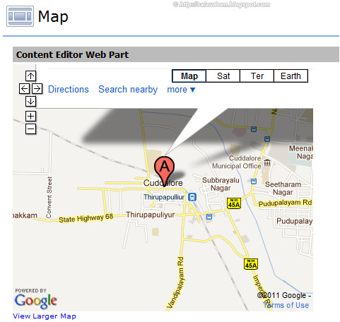 google map for sharepoint