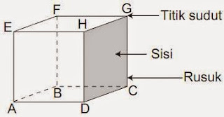 Luas permukaan kubus dan volume kubus disertai contoh soal