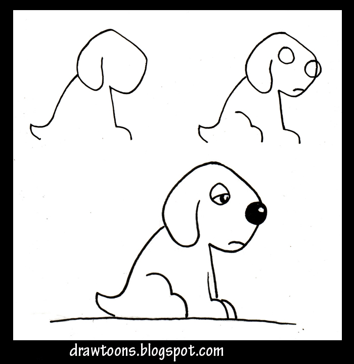 How To Draw Cartoon Dogs Step By Step