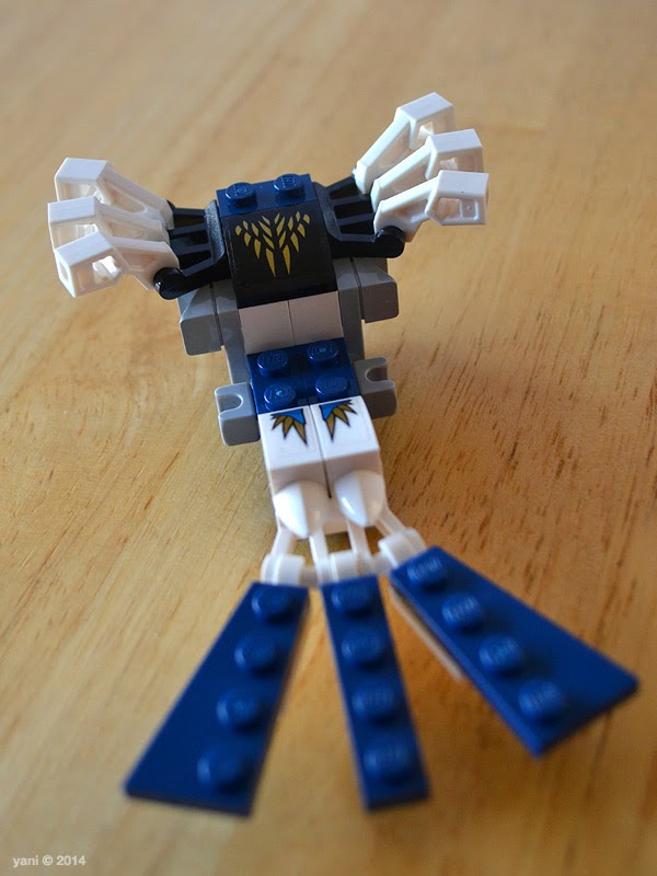 lego chima legend beast eagle - tail and stickers