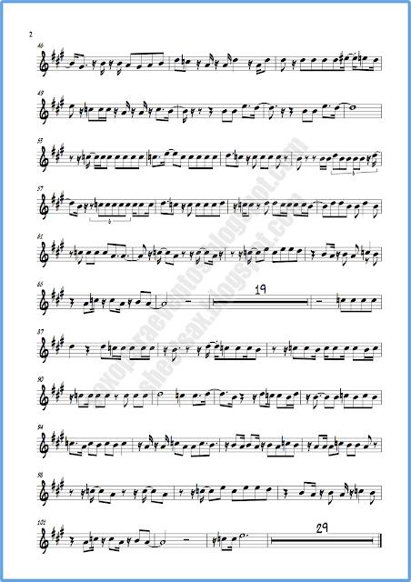 Partitura píntame saxo alto hoja 2