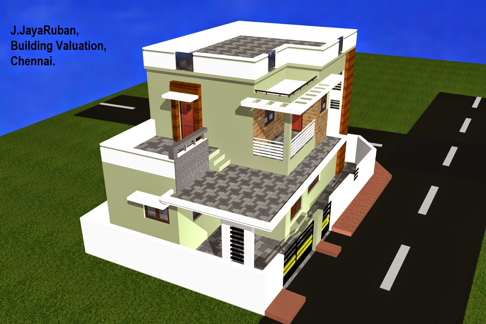Building Valuation in India: Plan, 3d Elevation and Specifications for ...
