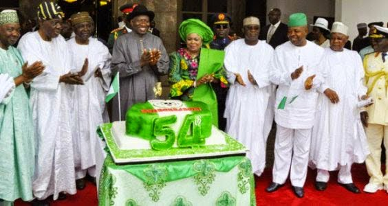Goodluck Jonathan Speech Celebrating Nigeria's Independence Day