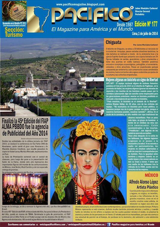 Revista Pacífico Nº 177 Turismo